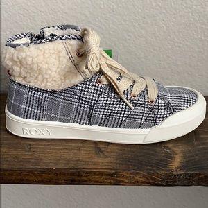 Roxy 'Thalia' Mid High Top Fur Sneakers
